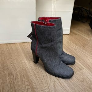 BCBG Maxazria Square Toed Booties - Size 9